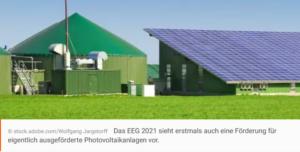 EEG 2021: Das ändert sich für Photovoltaikanlagen